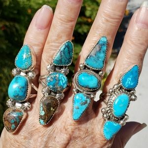 Native American Turquoise Sterling Silver Rings